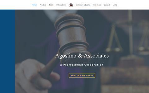 Screenshot of Home Page agostinolaw.com - Home - Agostino & Associates P.C. - captured Nov. 9, 2018