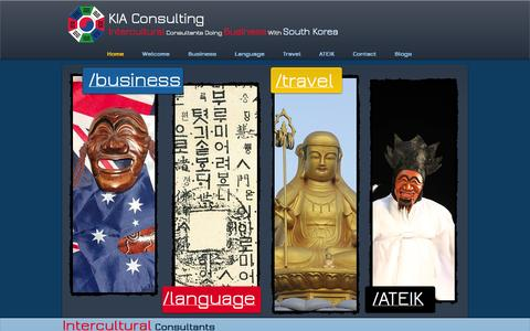 Screenshot of Home Page kiaconsulting.com.au - KIA Consulting | Doing Business with South Korea | Korean Culture - captured Oct. 6, 2014