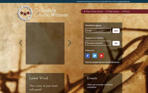 Screenshot of Press Page cc2w.org - Catholic Witnesses - captured Sept. 27, 2018