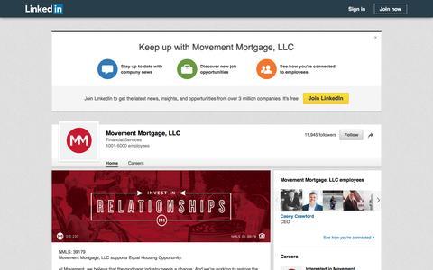 Screenshot of LinkedIn Page linkedin.com - Movement Mortgage, LLC  | LinkedIn - captured Feb. 23, 2017
