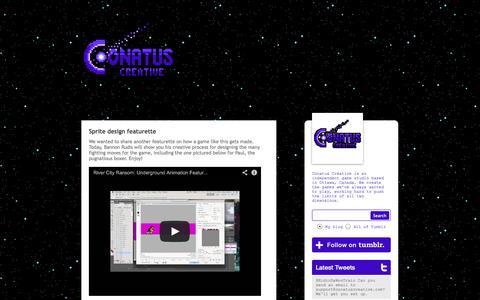 Screenshot of Home Page conatuscreative.com - Conatus Creative - captured Oct. 3, 2014