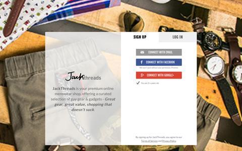 Screenshot of Signup Page jackthreads.com - Join JackThreads - captured Oct. 29, 2014