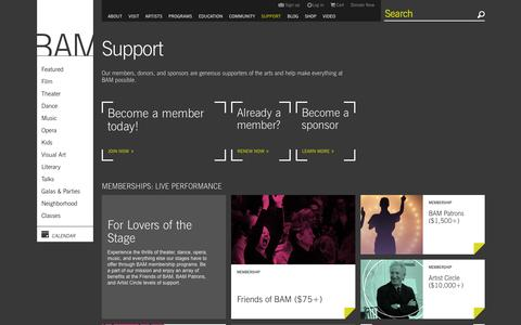 Screenshot of Support Page bam.org - BAM | Support - captured Sept. 23, 2014