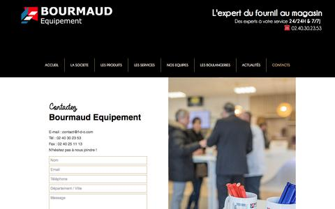 Screenshot of Contact Page bourmaud.fr - Contact - Bourmaud Equipement - captured July 5, 2017