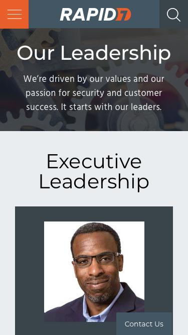Screenshot of Team Page  rapid7.com - Leadership   Rapid7