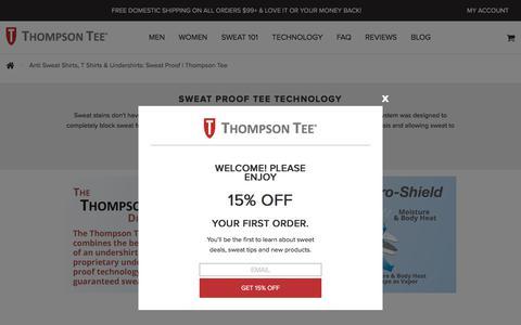 Anti Sweat Shirts, T Shirts & Undershirts: Sweat Proof | Thompson Tee
