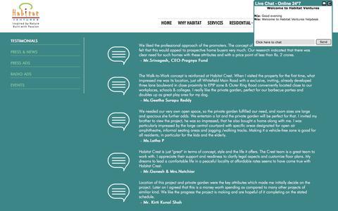 Screenshot of Press Page habitatventures.com - Habitat Ventures - captured Dec. 6, 2015