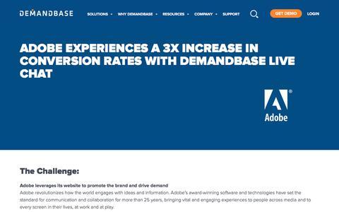 Screenshot of Case Studies Page demandbase.com - Adobe Boosts Visitor-Lead Conversion Rates with Demandbase - captured Nov. 6, 2019