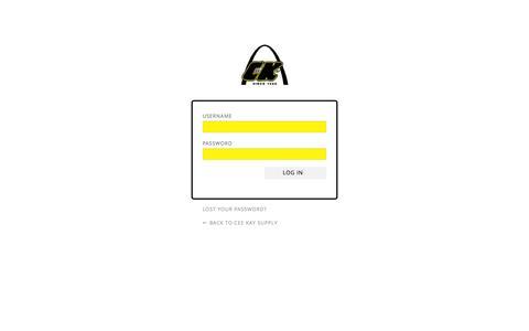 Screenshot of Login Page ceekay.com - Cee Kay Supply › Log In - captured Oct. 27, 2014