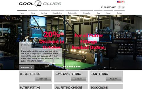 Screenshot of Home Page coolclubsoz.com.au - Cool Clubs Australia - captured Oct. 2, 2014