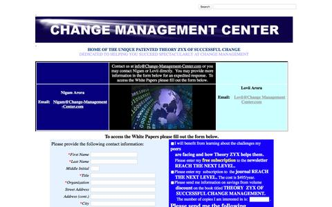 Screenshot of Contact Page change-management-center.com - MASTERS OF CHANGE MANAGEMENT: MANAGEMENT CONSULTANTS -- COST REDUCTION, ACCELERATE INNOVATION, STRATEGY, VISION - captured May 21, 2016