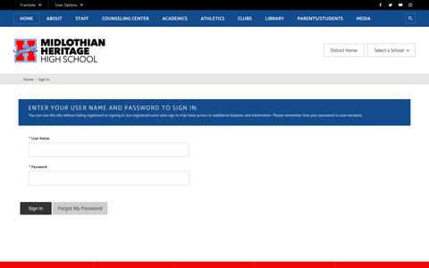 Screenshot of Login Page misd.gs - Sign In - captured June 14, 2018