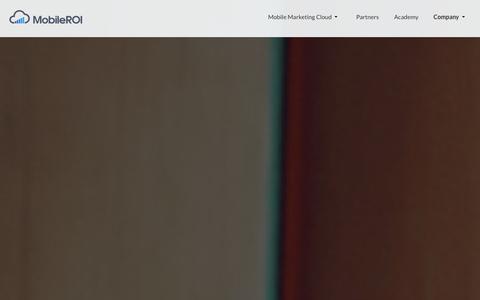 Screenshot of About Page mobileroi.com - Mobile Marketing Automation Platform   MobileROI - captured Oct. 26, 2014