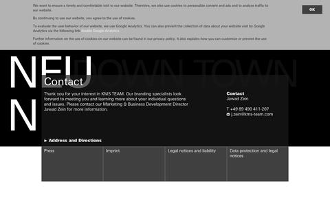Screenshot of Contact Page kms-team.com - KMS TEAM  Contact  Address and directions     KMS TEAM - captured Sept. 20, 2018