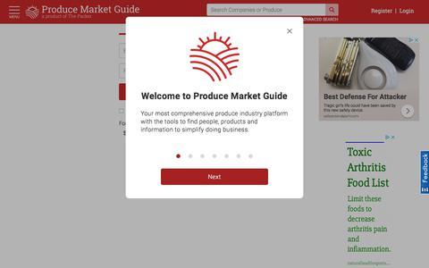 Screenshot of Login Page producemarketguide.com - Log in | Produce Market Guide - captured July 22, 2018
