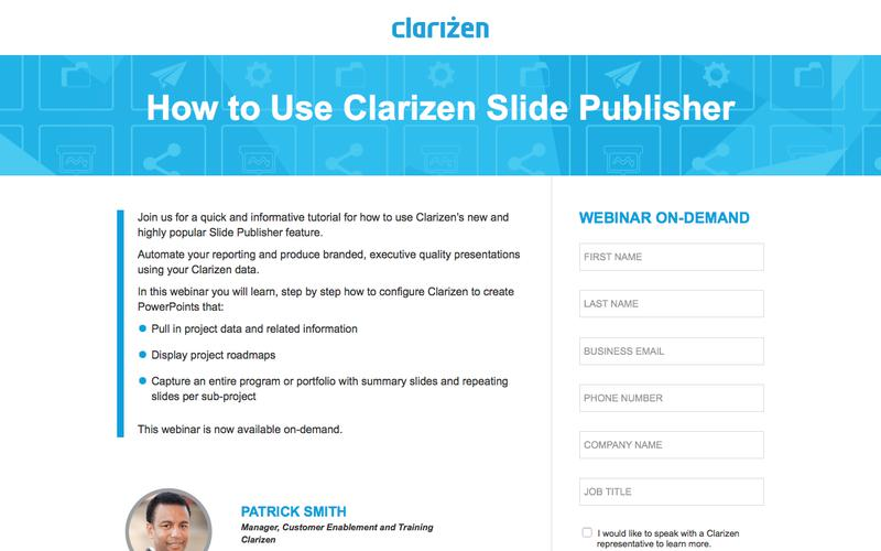 How to Use Clarizen Slide Publisher