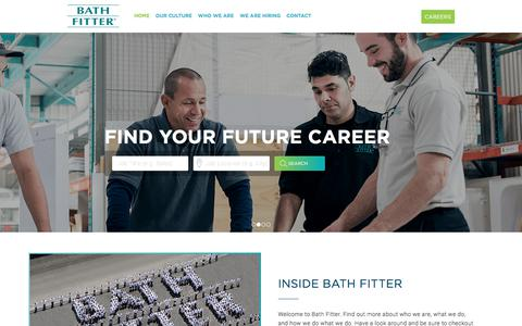 Screenshot of Jobs Page bathfitter.com - Careers and Employement Opportunities | Bath Fitter - captured July 1, 2018