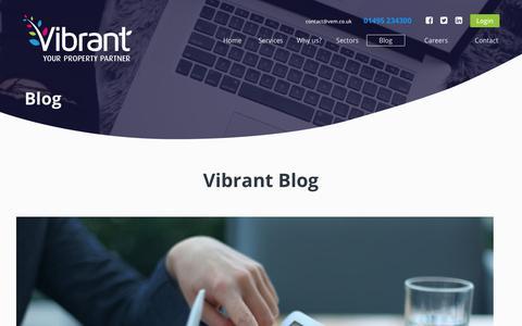 Screenshot of Blog vibrantenergymatters.co.uk - Vibrant   Property Services   Blog - captured Oct. 18, 2018