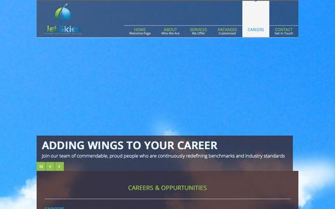Screenshot of Jobs Page jetskies.co - Careers | JetSkies Flying Solutions Pvt. Ltd. - captured Oct. 6, 2014