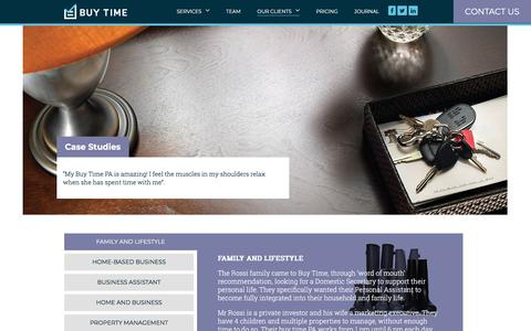 Screenshot of Case Studies Page buy-time.co.uk - Case Studies - Our Personal Assistants support homes and business in London - captured Aug. 5, 2018