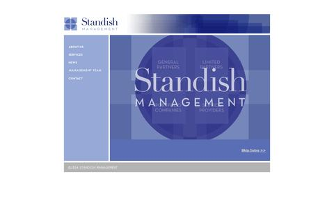 Screenshot of Home Page standishmanagement.com - Standish Management - captured Oct. 7, 2014