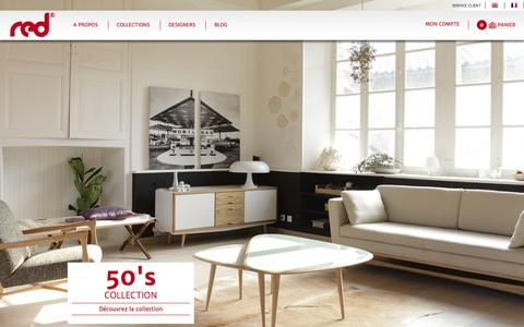 Screenshot of Home Page red.eu - Meuble design, RED Edition : meubles design, chaise design, table basse design, mobilier design - captured Oct. 6, 2014