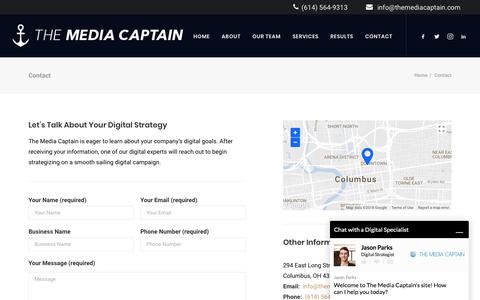 Contact - Fastest Growing Columbus Digital Marketing Agency [Media Captain]