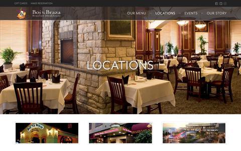 Screenshot of Locations Page boinabraza.com - Locations | Boi Na Braza - captured June 2, 2017