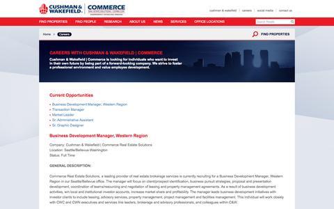 Screenshot of Jobs Page comre.com - Careers - captured Sept. 23, 2014