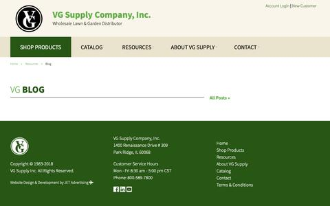 Screenshot of Blog vgsupply.com - Blog - VG Supply Company Inc - Wholesale Lawn & Garden Distributor - captured Dec. 20, 2018