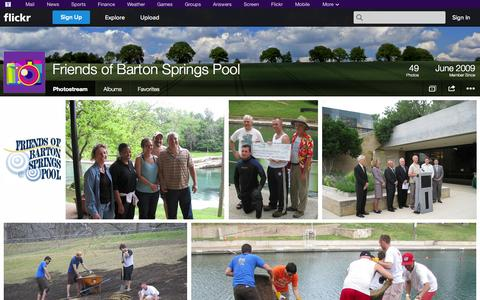 Screenshot of Flickr Page flickr.com - Flickr: Friends of Barton Springs Pool's Photostream - captured Oct. 25, 2014
