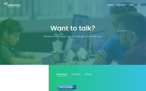 Screenshot of Contact Page talentica.com - Contact Talentica For Software Product Development - captured April 12, 2018