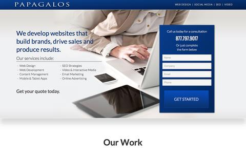 Screenshot of Landing Page papagalos.com - Web Design | Web Development - captured Oct. 28, 2014