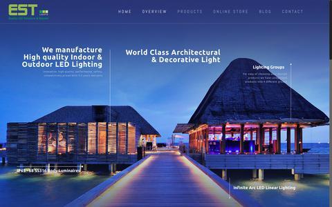 Screenshot of Home Page est.net.in - Indoor outdoor led lighting * Architectural linear lighting solution by EST Lights - captured Sept. 26, 2018