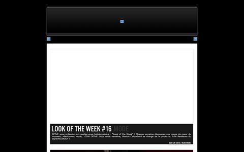 Screenshot of Blog ofive.tv - OFIVE.TV   » blog - captured Sept. 23, 2014