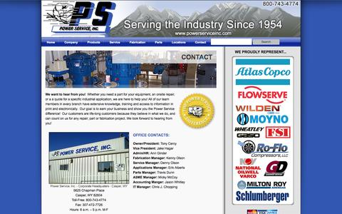 Screenshot of Contact Page Locations Page powerserviceinc.com - Contact «  Power Service, Inc. - captured Oct. 23, 2014