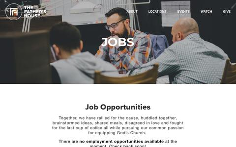 Screenshot of Jobs Page tfhny.org - Jobs | The Father's House - captured Sept. 14, 2018