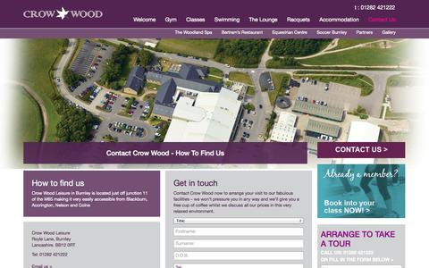 Screenshot of Contact Page crowwood.com - Contact Crow Wood - How To Find Us - captured Oct. 3, 2014