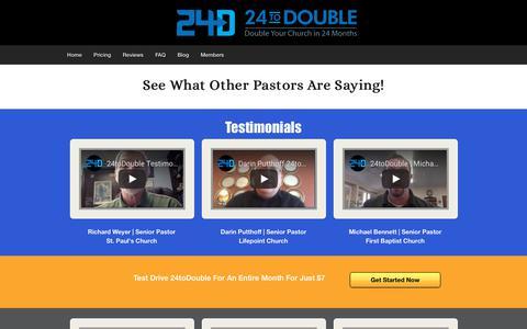 Screenshot of Testimonials Page 24todouble.com - testimonials - 24toDouble - captured Nov. 19, 2018