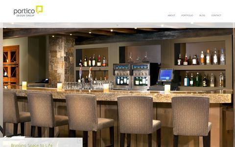 Screenshot of Home Page porticodesign.com captured Oct. 2, 2014