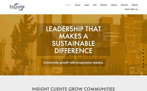 Screenshot of Home Page insightsc.com - Insight Strategic Concepts® | Business Strategy, Marketing Communications,  Sales Growth and Leadership Inspiration - captured Sept. 10, 2015