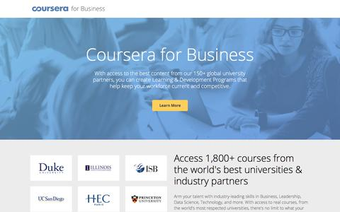 Training and Development | Coursera for Business