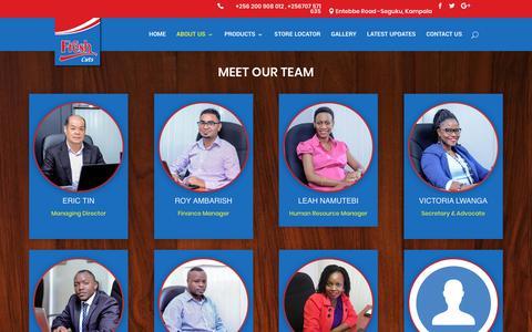 Screenshot of Team Page freshcuts.biz - OUR TEAM   Fresh Cuts (U) Ltd - captured Oct. 10, 2018