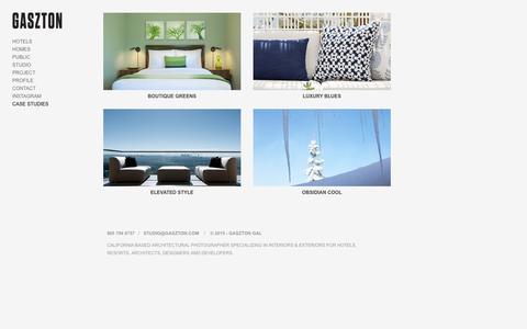 Screenshot of Case Studies Page gasztonphotography.com - CASE STUDIES - Gaszton Gal Architectural Photography - captured Oct. 26, 2016