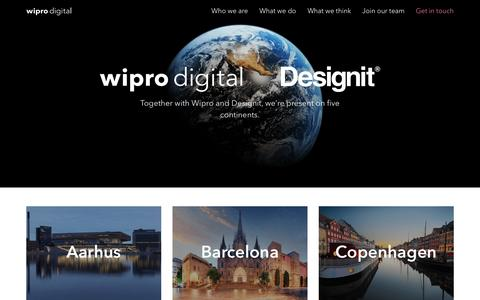 Screenshot of Contact Page Locations Page wiprodigital.com - Get In Touch - Wipro Digital - captured Jan. 12, 2017
