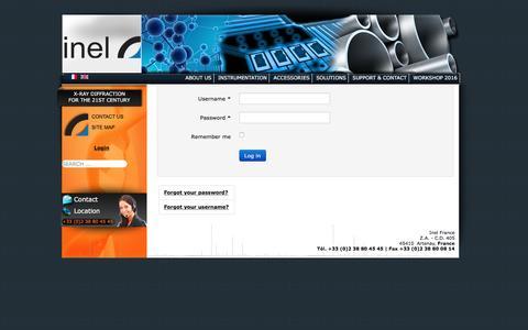 Screenshot of Login Page inel.fr - Inel - captured Nov. 18, 2016