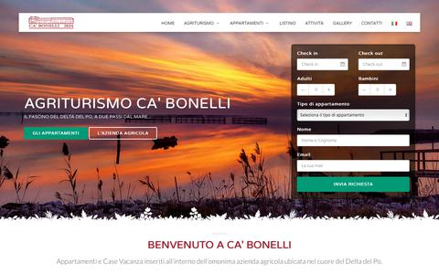 Screenshot of Home Page agribonelli.it - HOME - Agriturismo Ca' Bonelli - captured March 9, 2018