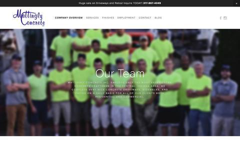 Screenshot of Team Page mattinglyconcrete.com - Our Team — Mattingly Concrete Inc. - captured Feb. 12, 2016