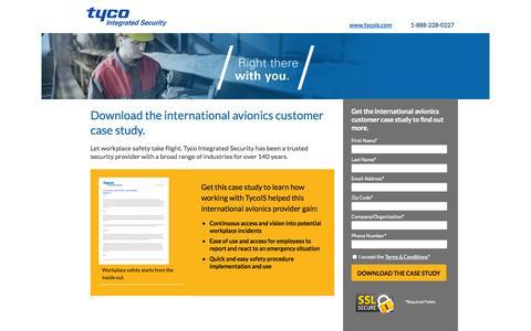 Screenshot of Landing Page tycois.com - Download the International Avionics Customer Case Study | TycoIS - captured Oct. 27, 2014