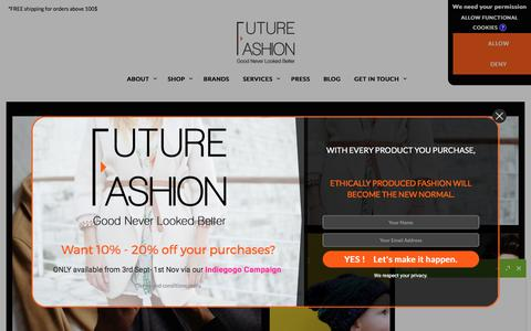 Screenshot of Home Page futurefashion.me - Fashion Store in Dubai | Online Shopping for Women and Men - captured Oct. 14, 2017